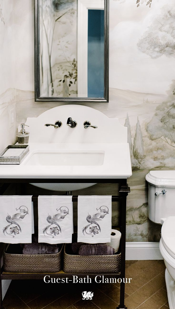 White and blue powder room features walls clad in trim molding framing - Best 20 Powder Rooms With Chinoiserie Inspired Wallpaper Ideas On Pinterest Chinoiserie Wallpaper Elegant Glam Powder Room And Orange Small Bathrooms