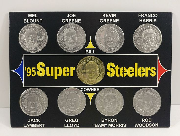 95 Super Steelers Pittsburgh NFL Giant Eagle Complete Set of 9 Coins