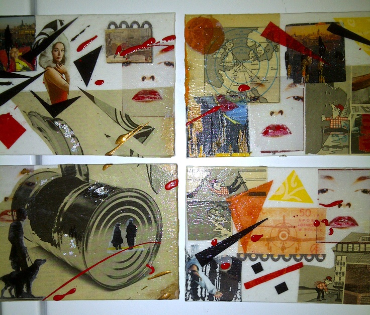 """Mix media collage """"Marilyn"""""""
