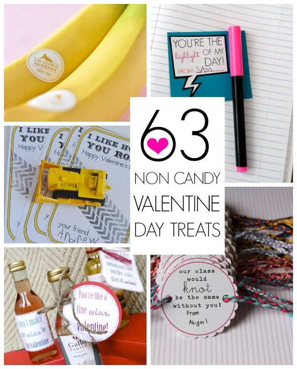 63 Non candy Valentines day sayings + paired with treats!