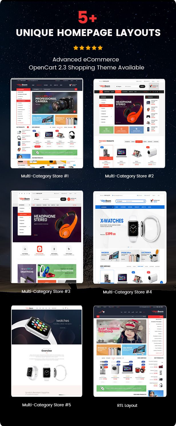 ClickBoom - Advanced OpenCart 2.3 Shopping Theme