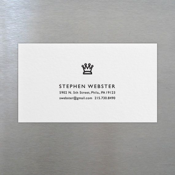 250 custom letterpress business cards crown by riseandshinepaper 250 custom letterpress business cards crown by riseandshinepaper consultants toolkit pinterest business for sale and cards reheart Images