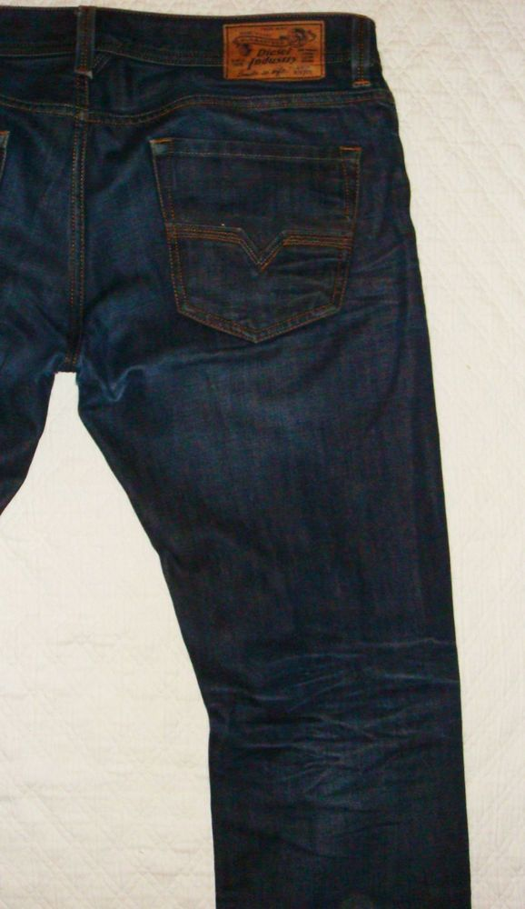 DIESEL Larkee 73N Relaxed Straight Dark Wash Jeans Size 38 X 30 0073N #DIESEL #ClassicStraightLeg