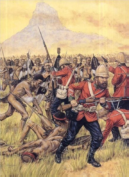 The chaos that became Isandlwana once the British gave the general order to retreat.
