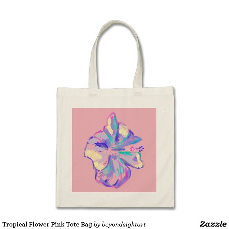 Tropical Flower Pink Tote Bag