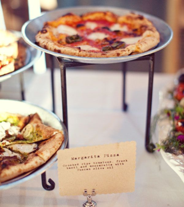 Gourmet Pizza Buffet. Style me pretty blog for more