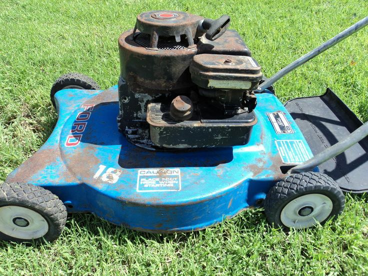 Vintage Ford Push Mower Rare Remember Seeing In Ford