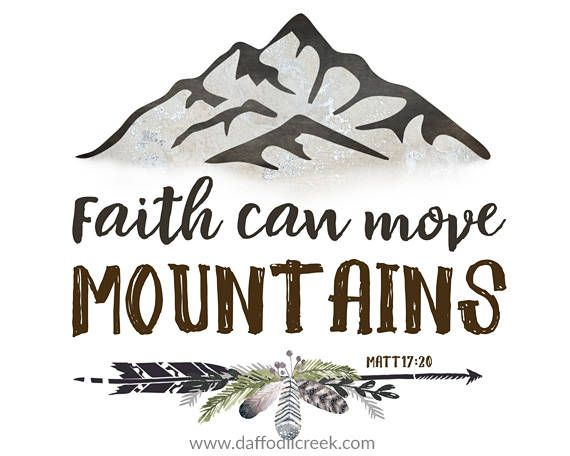 Faith Can Move Mountain Bible Verse Wall Etsy Nursery Art Boy Woodland Print Rustic Room App Where Are Paraphrased