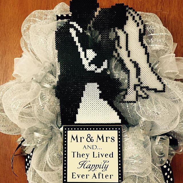 Wedding wreath perler beads by stacyorourke79