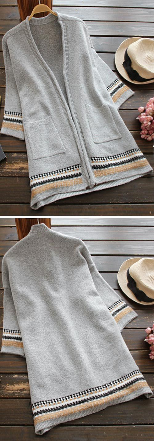 If you ever put this cardigan on, you may never take it off! Both the fit and length are amazing. Thanks to the always awesome color, you cannot go wrong with this one:) This is a necessity for your wardrobe.
