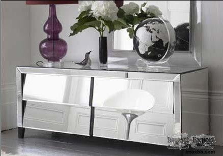 Glass Venetian Mirrored Furniture Side Table Bedside Table Console Bed Side Table
