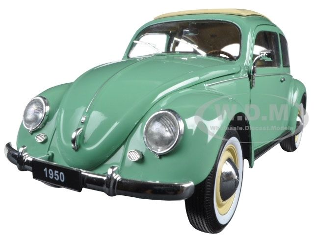 diecastmodelswholesale - 1950 Volkswagen Classic Old Beetle Split Window Green 1/18 Diecast Model Car by Welly, $31.99 (https://www.diecastmodelswholesale.com/1950-volkswagen-classic-old-beetle-split-window-green-1-18-diecast-model-car-by-welly/)