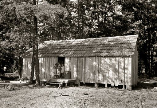 """missouri  1930s farming   May 1938. New Madrid County, Missouri. """"House without windows. Home of ..."""