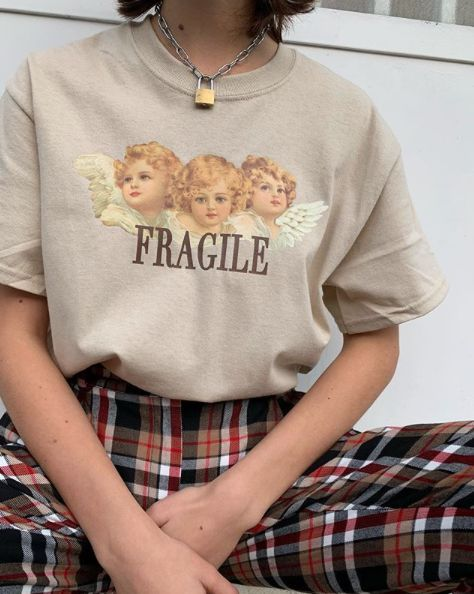 Fragile angels oversized tee