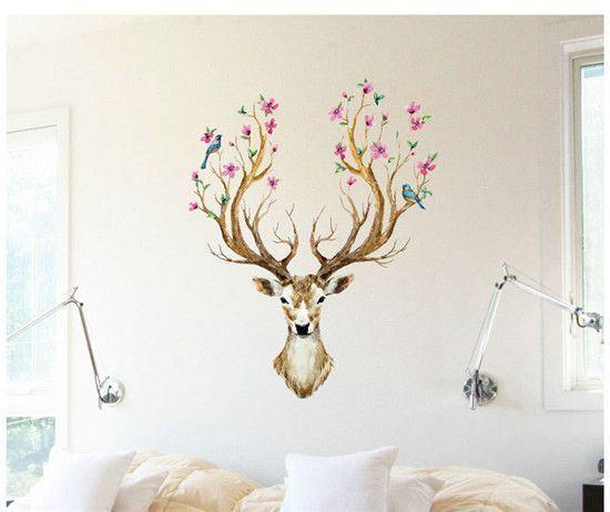 Deer Wallpaper Sticker