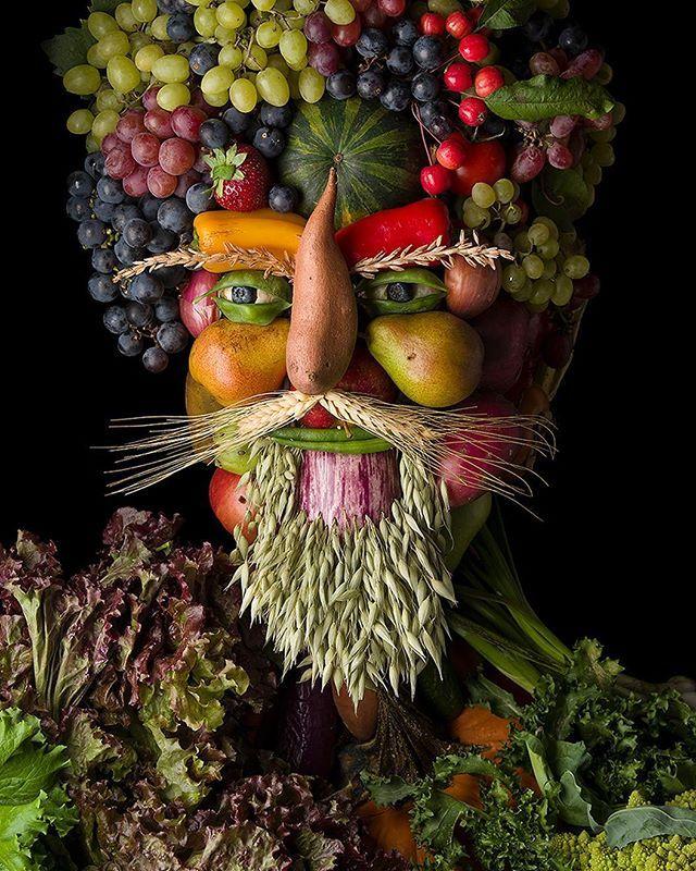 картинки из фруктов лицо статуя была
