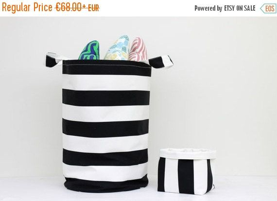 ON SALE Set Of Two Toy Basket, Laundry Basket, Toy Storage, Nursery Fabric