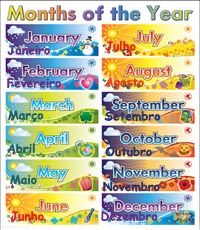 Months in Portuguese