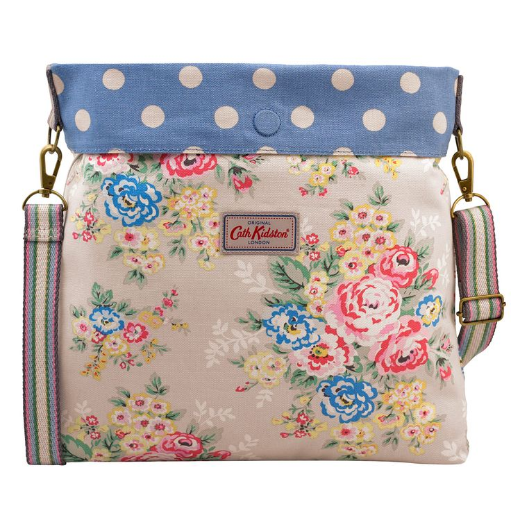Candy Flowers Reversible Folded Messenger Bag | Cath Kidston |