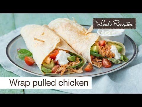 Wraps met pulled chicken - Leuke recepten