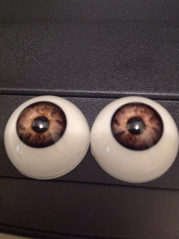 20mm  Pabol Gray//hazel Acrylic Half Round Doll Eyes FAST SHIPPING!!!