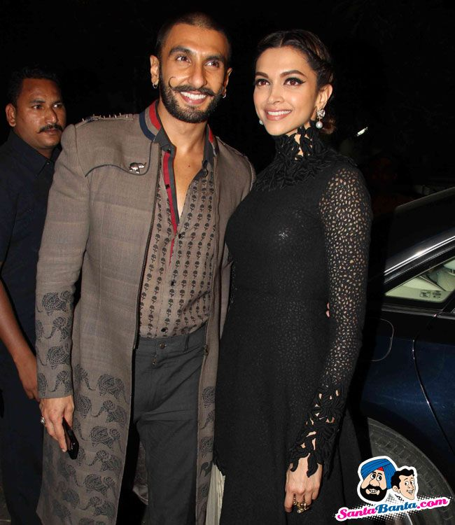 Stars Spotted 2015 -- Deepika and Ranveer Singh Spotted at Bandra Picture # 323379