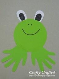 Handprint frog