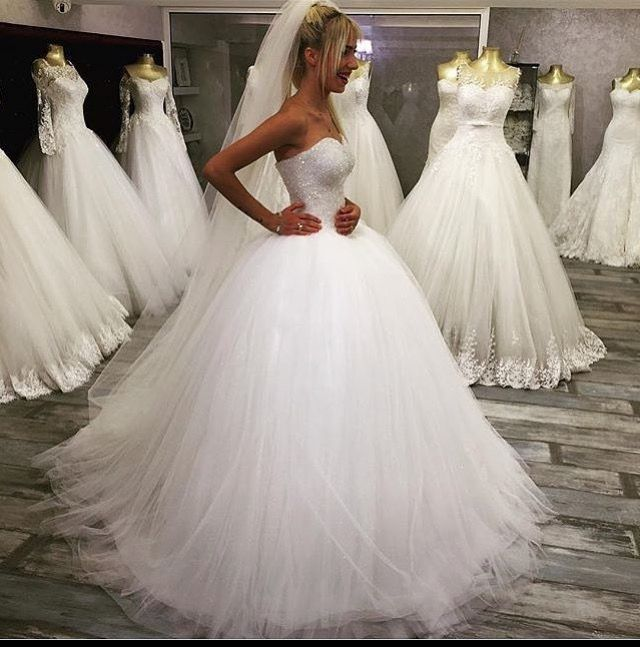 http://www.weddibox.eu/ Brautkleid-Prinzessin-Tüll-Wedding