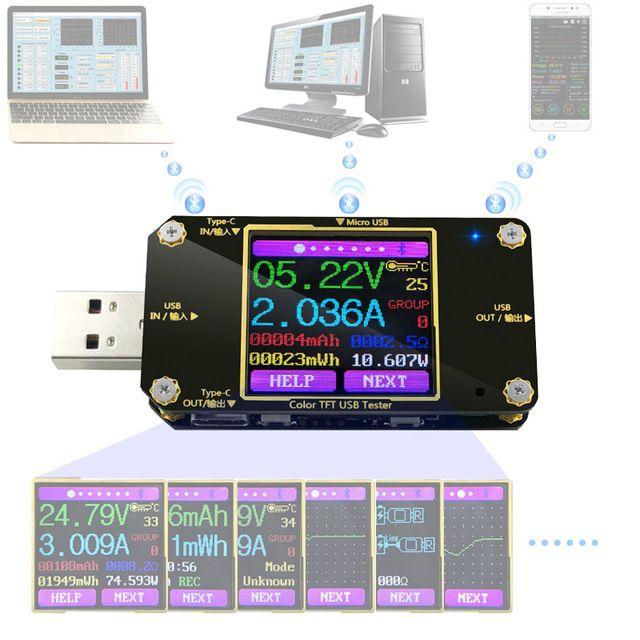 Bank 3 Meter.A3 A3 B Usb Tester Dc Digital Voltmeter Amperimetro Current Voltage