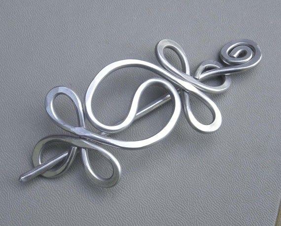 Yin-Yang-Aluminium-Schal-Pin Yinyang Haarnadel Schal Pin
