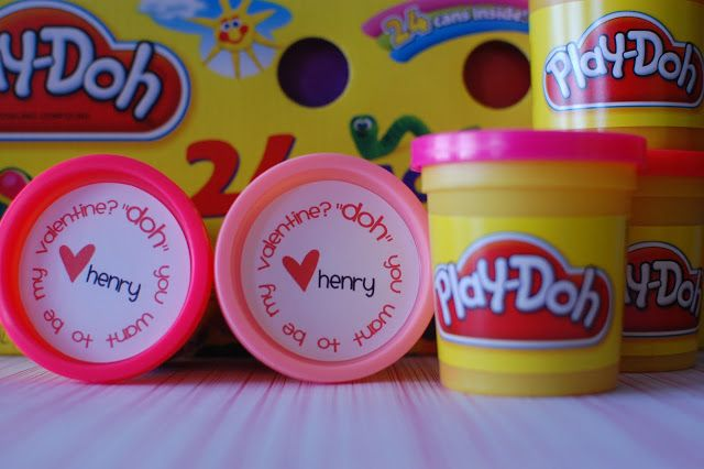 Cute idea and who doesn't like Play-Doh?  *Random Thoughts of a SUPERMOM!*: Play-Doh Valentines with Printable Labels