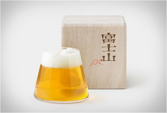 Mount Fuji beer glass by Product Design Center in Japan.