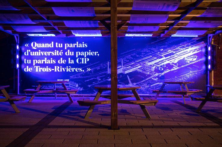 Exposition de nuit - Plan de la CIP #expo #urbain #nuit #troisrivieres #musée