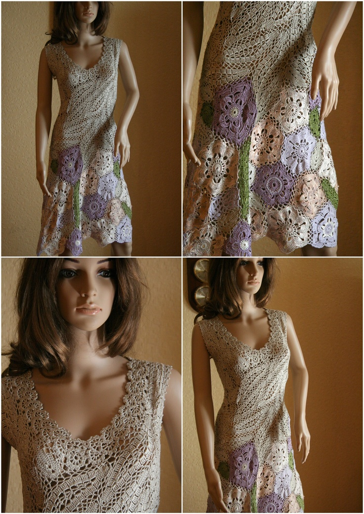 """""""Garden Party"""" Dress. Crochet"""