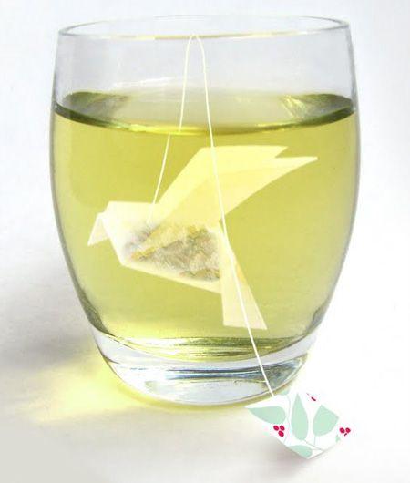 Origami Tea Bag by Russian designer Natalia Ponomareva