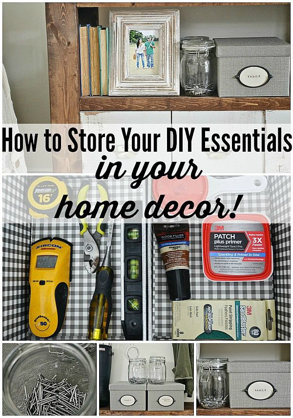 HOW to store your DIY essentials in your home decor & a SUPER easy fathers day gift!!