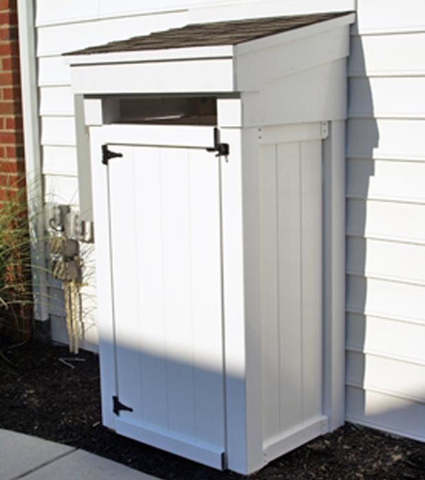 rubbermaid shed trash cans - Google Search