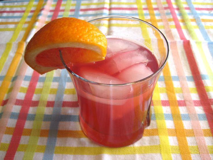 Mystic Mango: mango rum, cranberry, and OJ. My favorite drink ever!