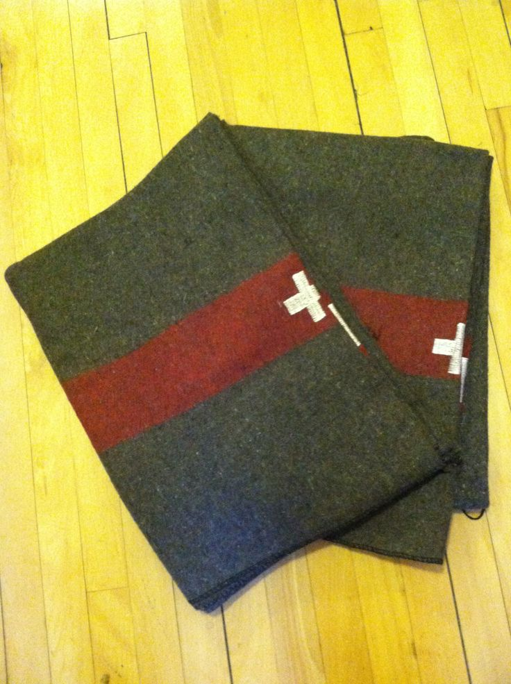 SWISS ARMY BLANKET Wool Blanket Stitch Embroidered Cross Iconic Blanket Camp Blanket Red  Brown Army Blanket Army Surplus by TOURISTGARAGE on Etsy https://www.etsy.com/listing/270350027/swiss-army-blanket-wool-blanket-stitch