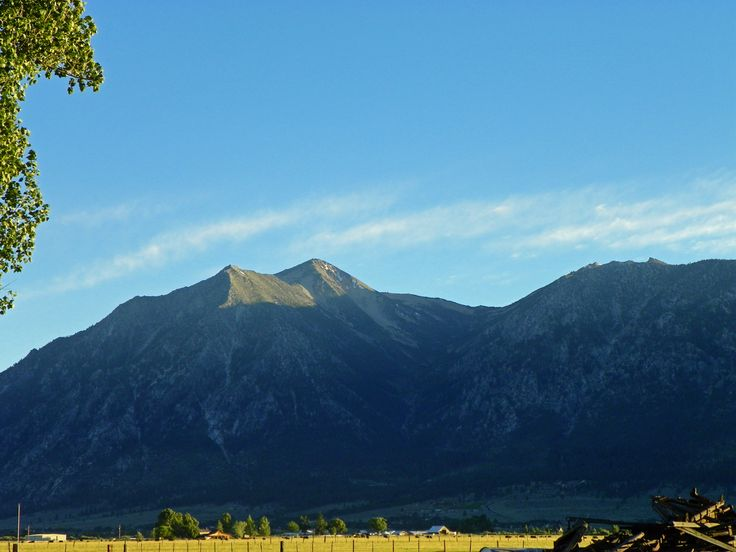 Jobs Peak From The Dangberg Home Ranch Historic Park In Minden Nevada Photo By
