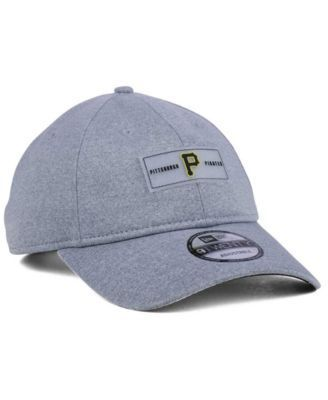 New Era Pittsburgh Pirates Clear Patch 9TWENTY Strapback Cap - Gray Adjustable