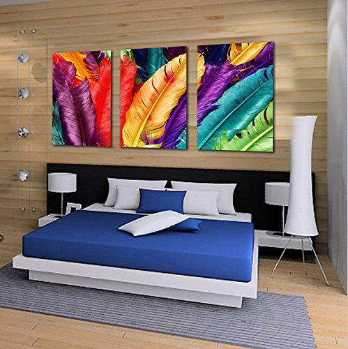Colorful Feather Wall Art Painting The Picture Print On C... https://www.amazon.ca/dp/B01822UR5A/ref=cm_sw_r_pi_dp_vJQFxbD6WSH8Z