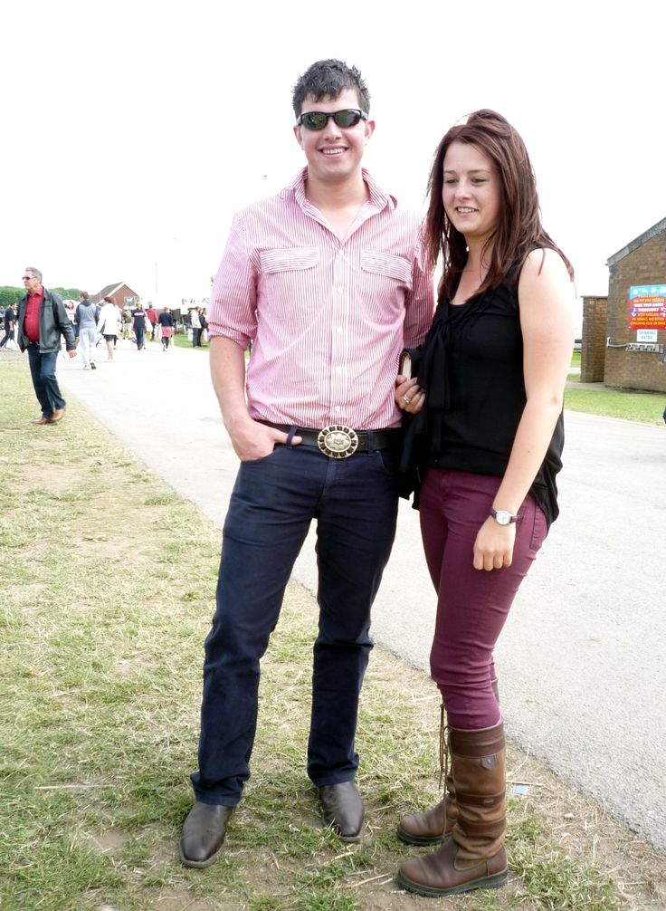 Dubarry boots with plum jeans - we thought this couple both looked great!