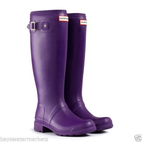 HUNTER-ORIGINAL-TALL-TOUR-SOVEREIGN-PURPLE-WELLINGTON-BOOTS-Welly-PACKABLE-FOLD
