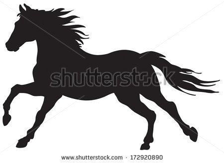 Silhouette horses running vector Free vector for free download ...