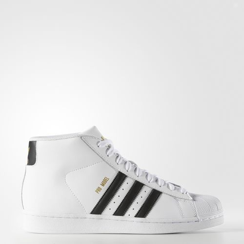 The Pro Model is a mid-cut version of the ever-popular adidas Superstar shoe  for men. Its streetwear style features an all-leather build and the iconic  ...