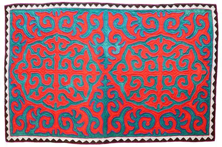 Chindyk, handmade shyrdak felt carpet.