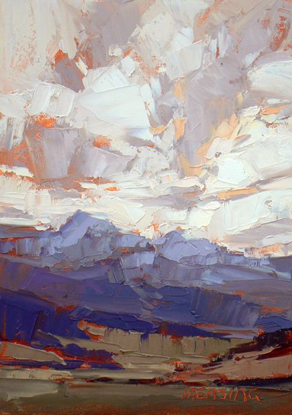 David Mensing.wow, what a way to paint mountains. More More