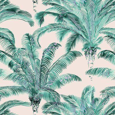 Un coton imprimé pour donner un air tropical à sa déco. En 140 cm de largeur, tissu Bahia. Thévenon.