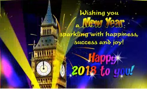 Sparkling Happy New Year 2018 Best Greeting Wishes